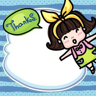 'thank','you','girl','cartoon'