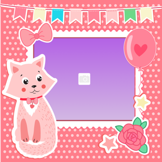 'cat','baby','photoframe'