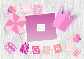 'girl','princess','birthday','photoframe'