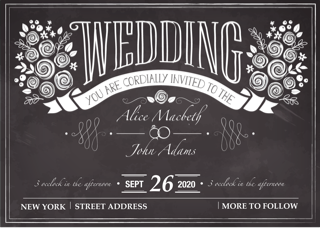 'wedding','invitation','chalk','blackboard'