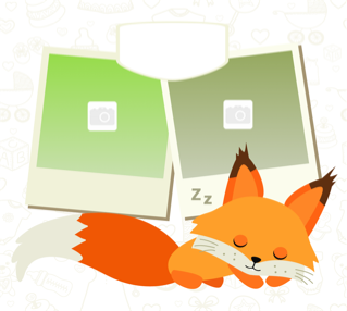 'animal','fox','baby','photoframe','twin'