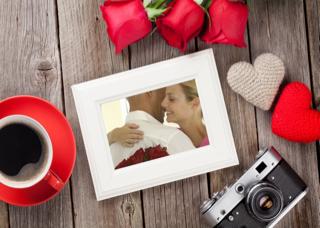 'rose','coffee','photoframe','heart','love','wood','romantic','valentine'