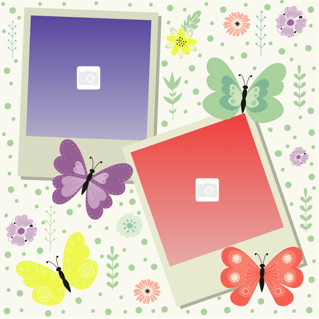 'butterfly','newborn','baby','photoframe'