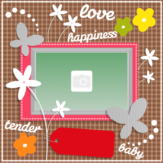 'baby','love','happy','photoframe'